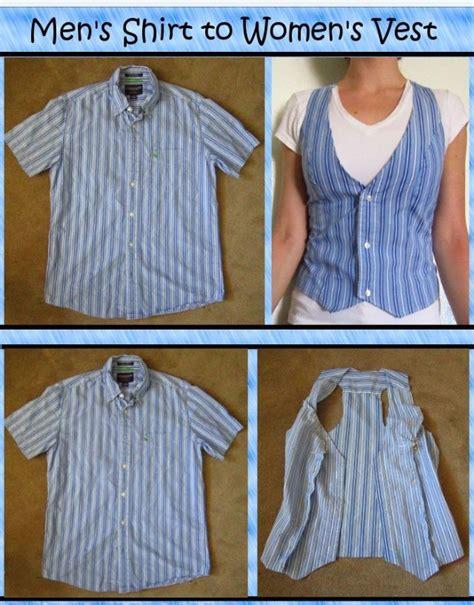T Shirt 10 Into diy turn a mens shirt into a s vest trusper