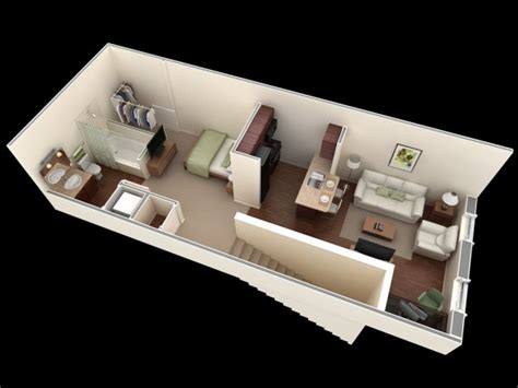 interior design for studio type house 50 studio type single room house lay out and interior design