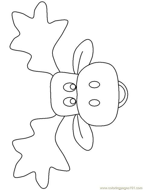 moose template moose coloring coloring pages