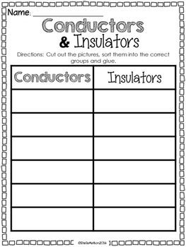 electrical conductors and insulators worksheet conductors and insulators worksheet stinksnthings