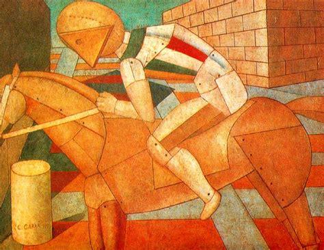 western horseman 1917 carlo carra wikiart org