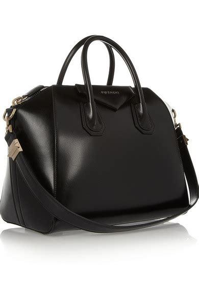 Givenchy Antigona Min 3154 givenchy medium antigona bag in shiny black leather net a porter