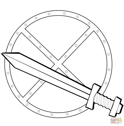 knight sword coloring page sword and shield coloring page free printable coloring pages