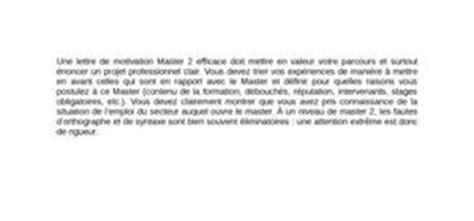Lettre De Motivation Pour Master 1 Banque Finance Exemple Lettre De Motivation Gratuite Pour Un Master
