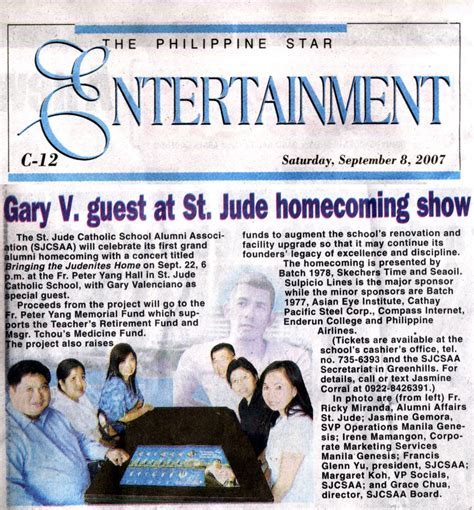 entertainment section bringing the judenites home gary v guest at st jude
