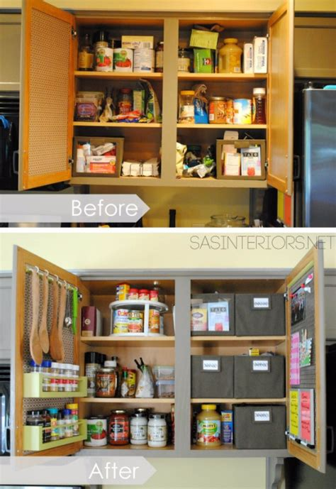 kitchen organization inside the cabinet doors cheap and easy ideas para organizar cocina que puedes hacer mismo geniales