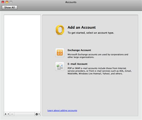 how to add email accounts to microsoft outlook how to setup outlook 2011 mac using imap ecenica