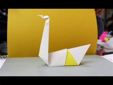 How To Make A Duck Out Of Paper - how to make a paper duck origami duck tutorial