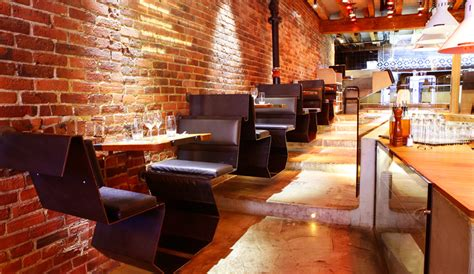 Interior Home Design For Small Spaces A Rustic Mod Italian Restaurant In Old Montreal Azure