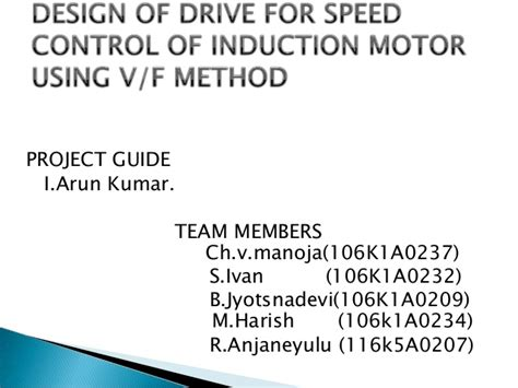 induction motor ppt design of drive for speed of induction ppt