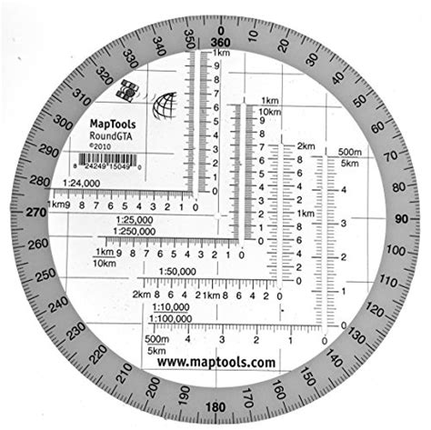 printable map protractor round military coordinate scale and protractor in the