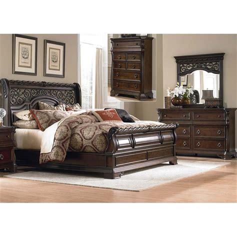 cymax bedroom furniture liberty furniture arbor place 4 piece queen sleigh bedroom