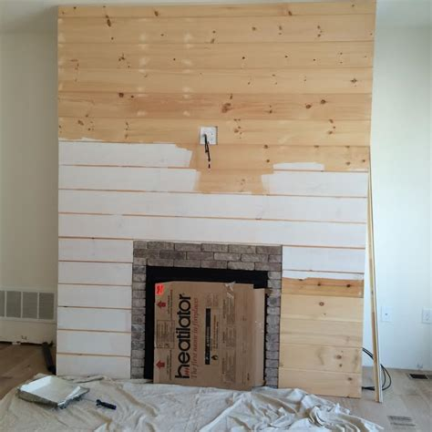 Shiplap Wood Wall Diy Shiplap Fireplace Wall Home Shiplap