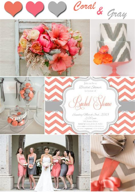 2014 wedding color trends coral wedding ideas and