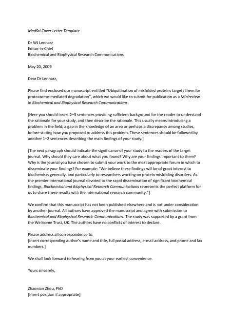 Cover Letter For Article by Sle Manuscript Cover Letter The Best Letter Sle
