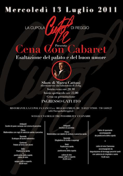 la cupola reggio emilia cena con cabaret mercoled 236 13 luglio 2011 portale della
