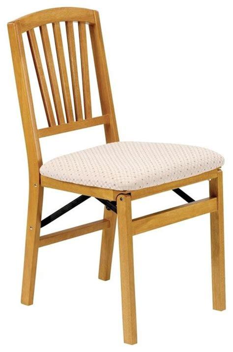 Craftsman Dining Chairs Slat Back Folding Chair In Warm Oak Finish Craftsman Dining Chairs