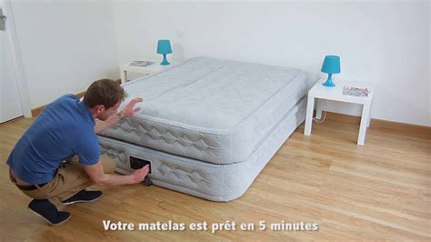 Futon 2 Places by Matelas Gonflable Intex Supreme Bed Fiber Tech 2 Places