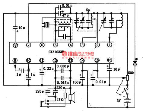 am radio integrated circuit the cxa1033p am single chip radio integrated circuit lifier circuit circuit diagram
