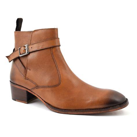 buy mens brown cuban heel beatle boots gucinari