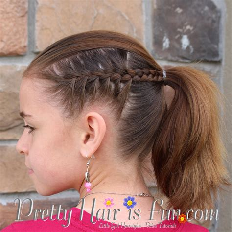 hairstyles to do for a dance girl s hairstyles racer stripe braids pretty hair is