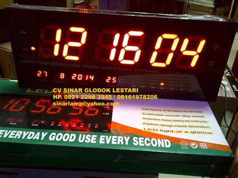 Led Jam Lu Digital Clock Results From 24