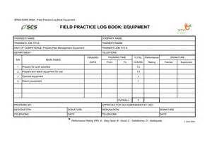 Equipment Log Book Template by Best Photos Of Log Book Template Vehicle Log Book