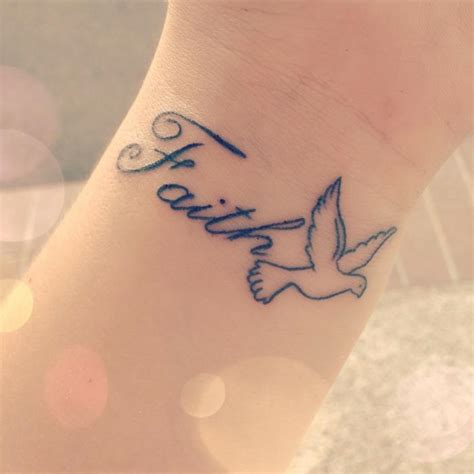 Tattoos Wrist The Enthusiasm Of The New Generation Hum Faith Tattoos With Ddoves On Wrist
