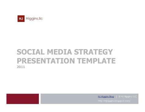 linkedin strategy template social media strategy presentation template