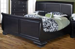 Black Sleigh Bed Maryhill Rubbed Black King Sleigh Bed From New Classics 2105 111 121 131 Coleman Furniture