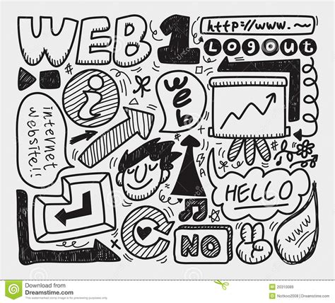 doodle bug website doodle web element icon set royalty free stock images
