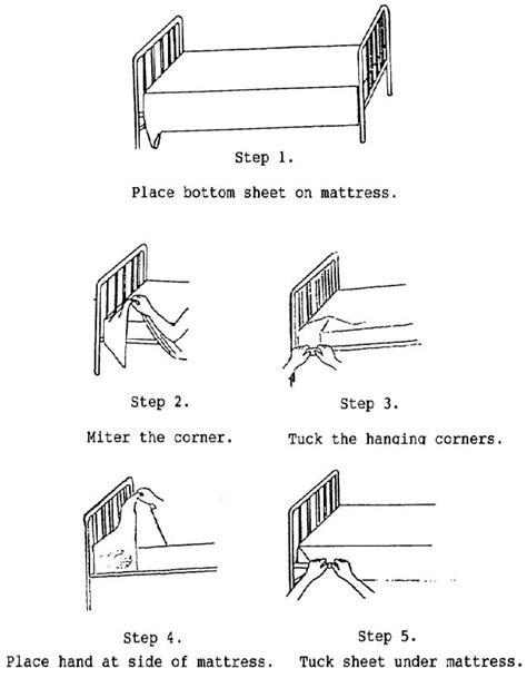 how to properly make a bed 3 04 making the ambulatory patient s bed basic patient