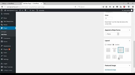 wordpress reset layout wordpress website change page post layout youtube