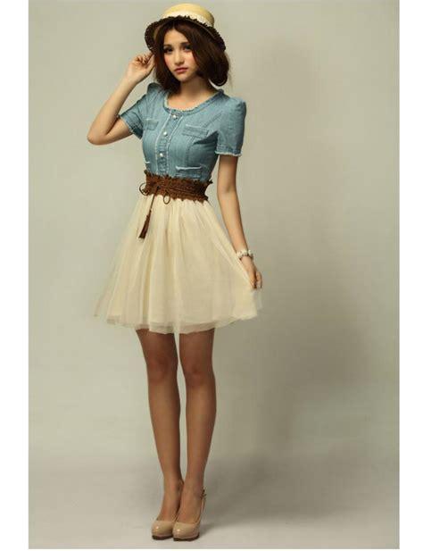 2013 summer s vintage jean dresses retro blue