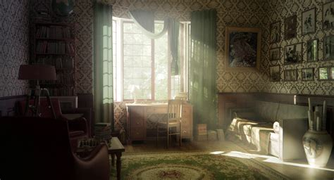 render room interior  window sun rays hd wallpaper