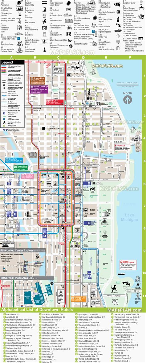printable street map chicago maps update 7001148 tourist map of downtown chicago 15