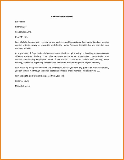 exle of a cover letter for cv 9 cover page for cv mail clerked