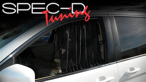 curtains for cars windows specdtuning installation video universal vip sliding