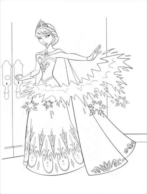 coloring pages of frozen free coloring page world frozen portrait
