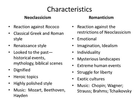 themes in neoclassical literature neoclassicism vs romanticism vs realism ppt video