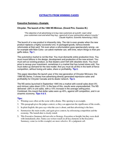 Overview Examples For A Resume by How To Write A Good Resume Summary Executive Summary