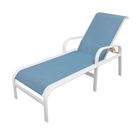 Patio Chaise Lounge Marco Island White Commercial Grade Aluminum Patio Chaise Lounge With Dupione Poolside Sling