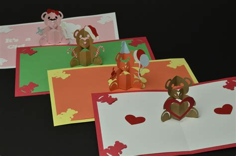 teddy pop up card template free teddy pop up card valentines day birthday