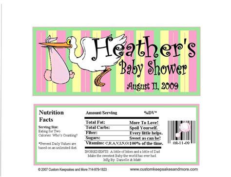 Bar Labels For Baby Shower by Baby Shower Bar Wrapper