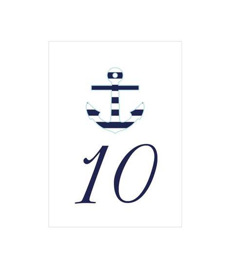 free printable nautical table numbers weddings