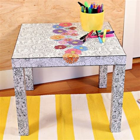 Coffee Table Made Of Books How To Make An Coloring Book Coffee Table Curbly