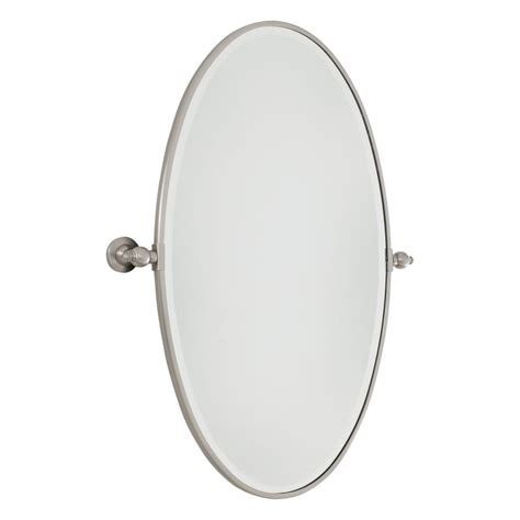 brushed nickel oval bathroom mirror minka lavery 1432 84 brushed nickel extra large oval