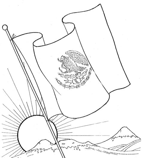 imagenes para colorear bandera de mexico d 237 a de la bandera de m 233 xico para pintar colorear im 225 genes