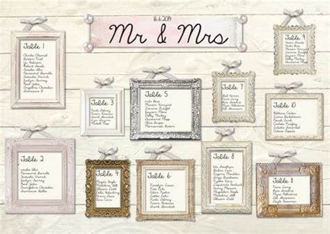 wedding seating plan picture frames mirror and frame wedding seating plans