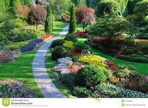 Backyard Flower Gardens Spring Garden Royalty Free Stock Photo Image 13498065